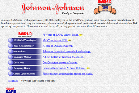 Johnson & Johnson in 1996
