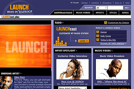 Launch Yahoo in 2003