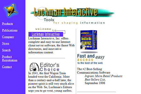 Luckman Interactive in 1996
