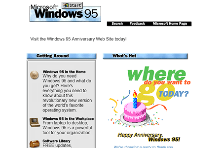 Microsoft Windows 95 in 1996