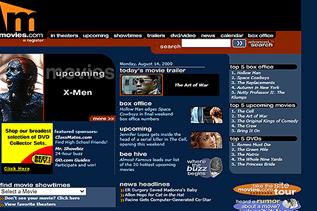Movies.com in 2000