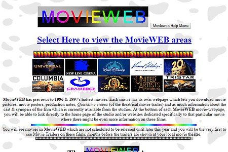 MovieWEB in 1996