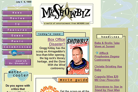 Mr. Showbiz in 1998