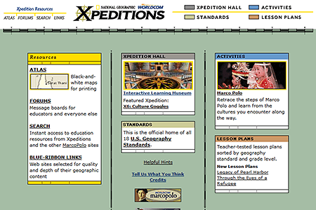 National Geographic Xpeditions in 2001