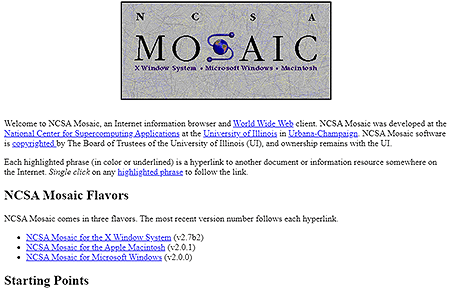 NCSA Mosaic in 1995