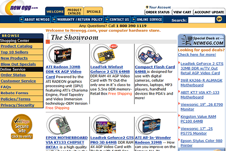 NewEgg in 2001