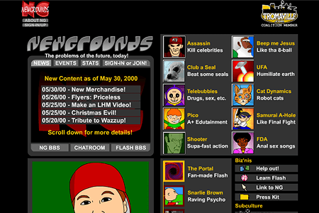 Newgrounds in 2000