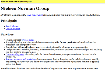 Nielsen Norman Group in 1998
