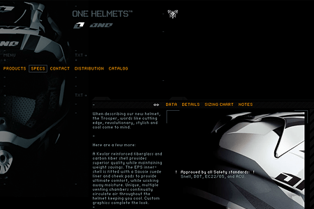 ONE Helmets in 2004