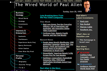 Paul Allen's Wired World in 1998