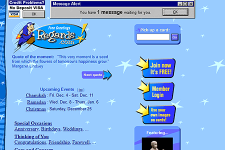 Regards.com in 1999