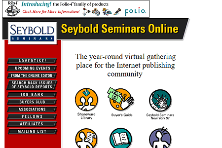 Seybold Seminars Online in 1996