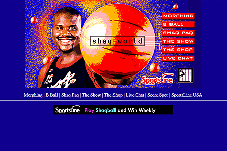 Shaq World Online in 1996