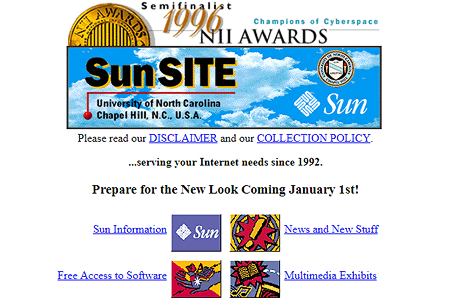 SunSITE  in1996