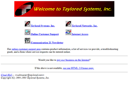 Taylored Systems in 1995