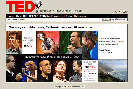 TED Conferences in 2003