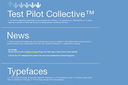 Test Pilot Collective in 2000