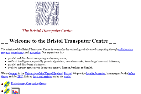The Bristol Transputer Centre in 1994