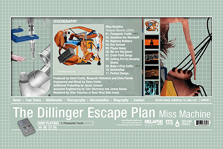 The Dillinger Escape Plan in 2004