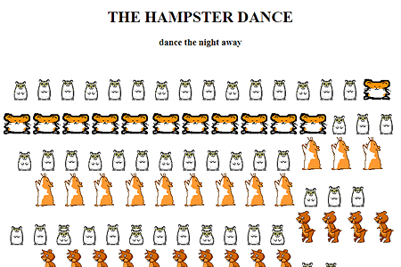 The Hampster Dance in 1999