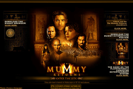 The Mummy Returns in 2001