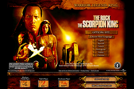 The Scorpion King in 2002