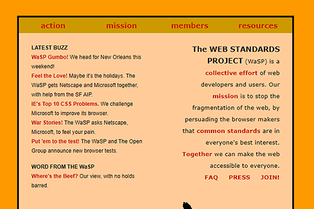 The Web Standards Project in 1998