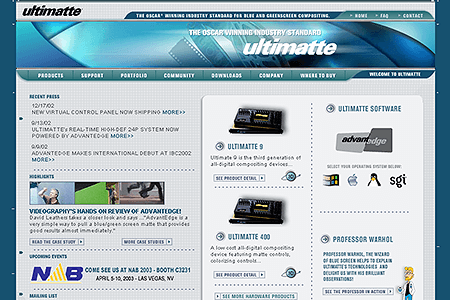 Ultimatte Corporation 2002