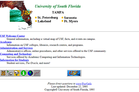 University of South Florida in 1995
