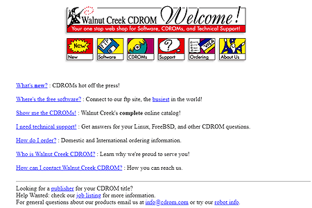 Walnut Creek CDROM in 1995