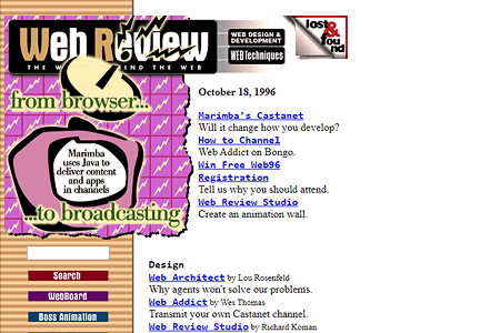 Web Review in 1996