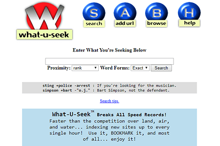 What-U-Seek in 1997