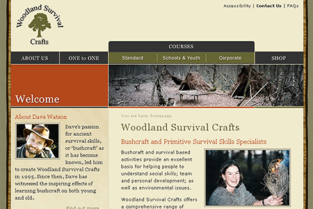 Woodland Survival Crafts in 2005