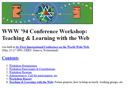 WWW '94 Conference Workshop 1994