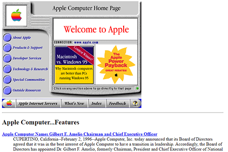 Web Design in the 90s