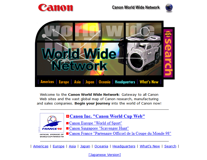 Canon in 1998