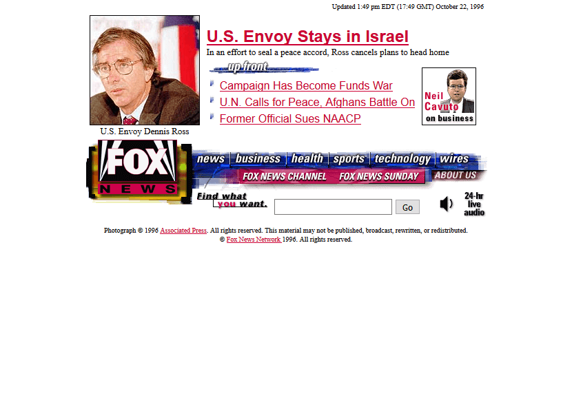 Fox News Channel in 1996