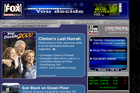 Fox News Channel in 2000