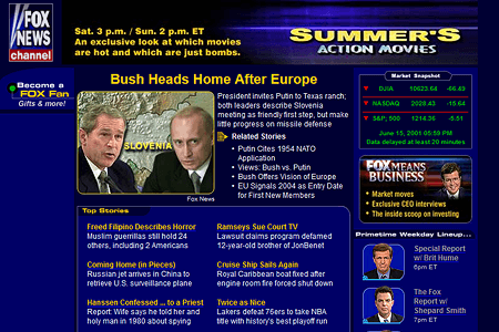Fox News Channel in 2001