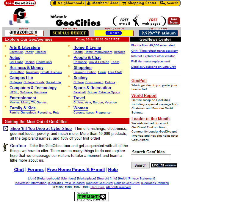 GeoCities 1998