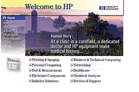 Hewlett Packard in 1996