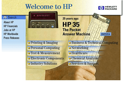 Hewlett Packard in 1997