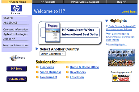 Hewlett Packard in 2000