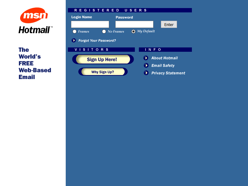 Hotmail in 1998