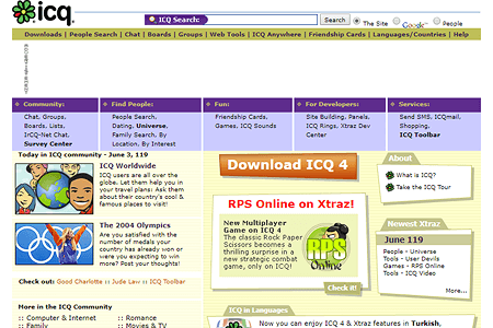 ICQ in 2004
