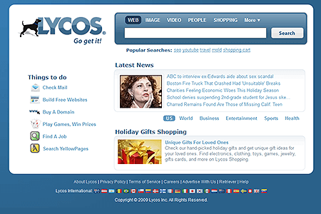Lycos in 2009