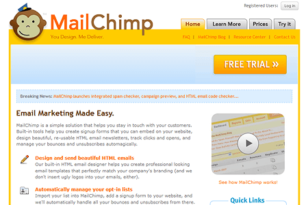 MailChimp in 2007