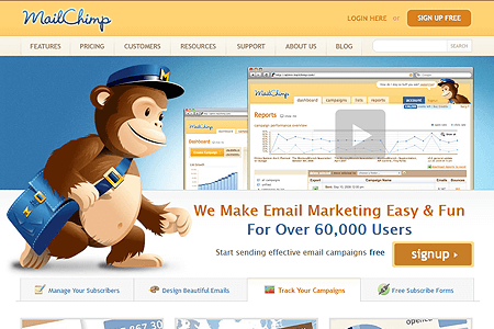 MailChimp in 2009
