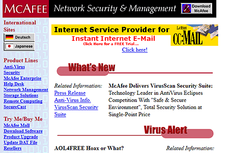 McAfee in 1997