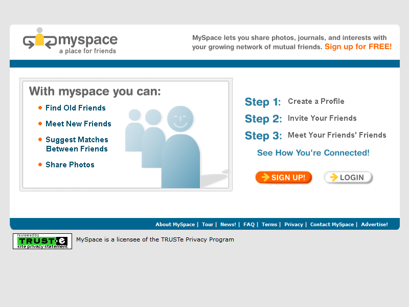 MySpace in 2003